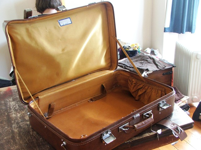 This is an open suitcase