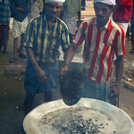 Charcoal for the Biryani - Kollam, India