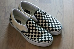 Vans Black-and-White Checkerboard slip-ons