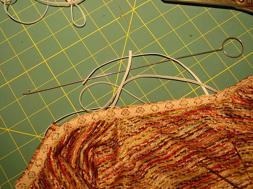 Inserting elastic