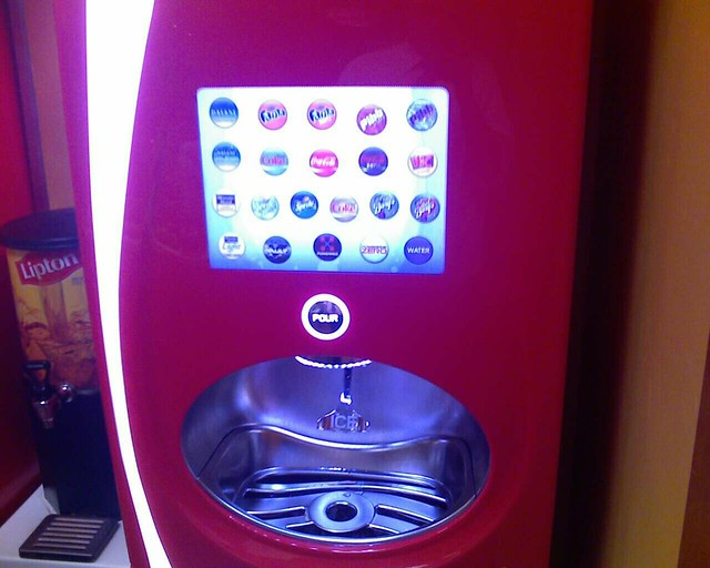 drink machine touch screen