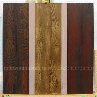 Wood graining samples