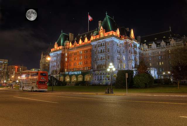 The Empress Hotel at Night (HDR)