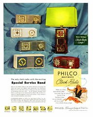 1950s Philco Clock Radio Advert