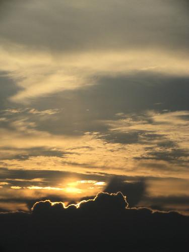 clouds port sunrise mexico texas gulf aransas