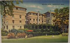 Vintage Postcard - Weldon Hotel, Greenfield, Mass