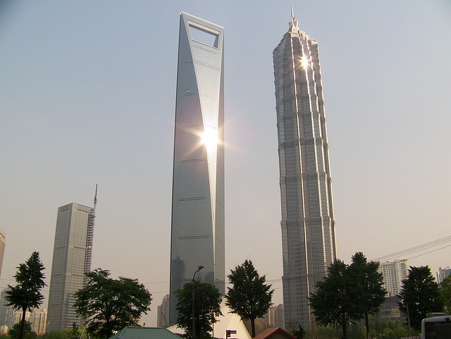 Shanghai World Financial Tower and Jin Mao Building