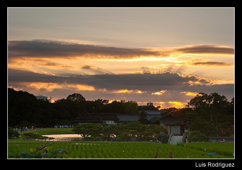 Atardecer en el jard n korakuen de okayama profundidad for Jardines okayama