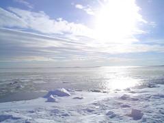 Vista com neve na Fortaleza Suomenlinna
