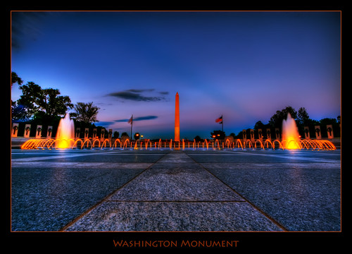 city urban monument fountain washingtondc washington nightlights nationalmall hdr photomatix