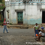 People at the Corner of Central Park - Perquin, El Salvador