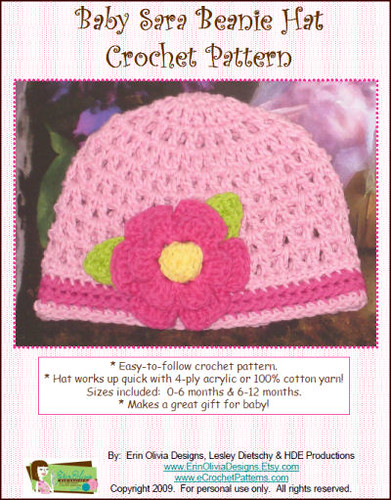 Simple Crochet Baby Beanie - A Free Pattern