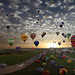 The largest hot-air balloon gathering in the world, Chambley, France. So far today, more then 330.000 views and 7.000 Faves!t by Batistini Gaston (4 million views!)