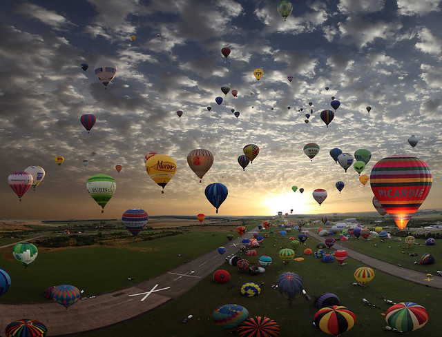 The largest hot-air balloon gathering in the world, Chambley, France. So far today, more then 325.000 views and 7.000 Faves!t