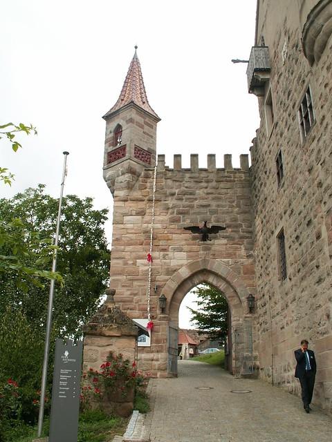 Burg Abenberg vom Felsen in der Ferne