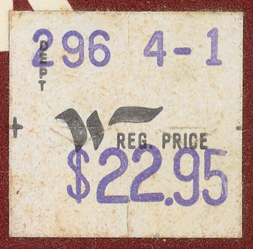 Woolco Price Sticker