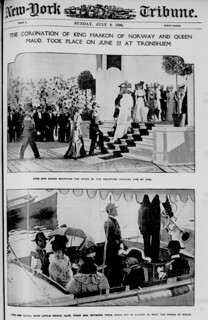 The Coronation of King Haakon of Norway and Queen Maud, took place on June 22 at Trondhjem (LOC)