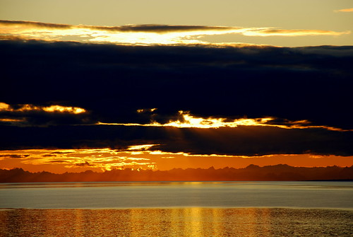 Alaska Anchorage Sunset Curtain