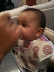 Laila eats yam