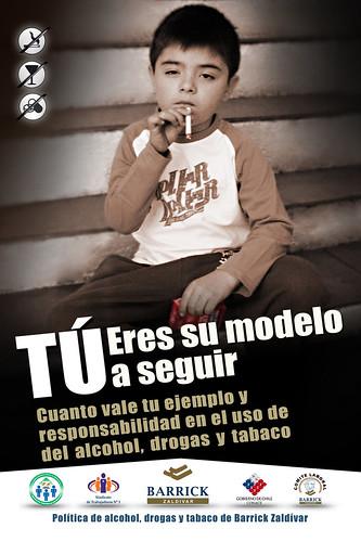 Políticas Alcohol, drogas y tabaco Barrick Zaldívar: Tabaco