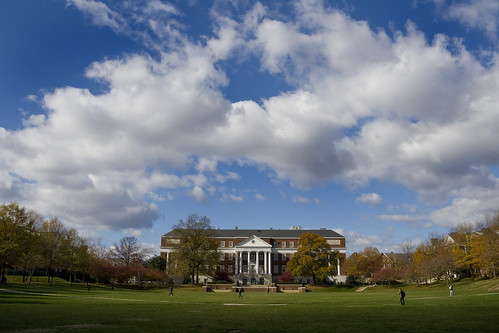 McKeldin Library on McKeldin Mall