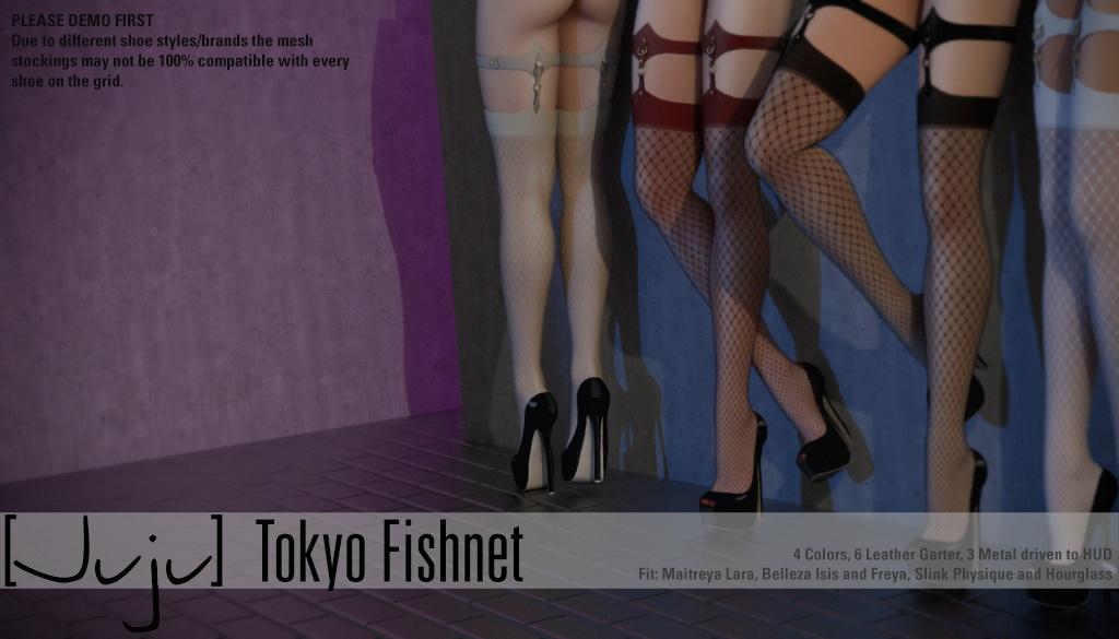 [Juju] Tokyo Stockings - Fishnet for Uber - SecondLifeHub.com