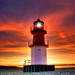 When night meets day !                   Sunset lighthouse - Isle of Man