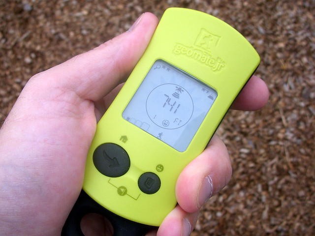 Geocaching with GeoMate Jr.
