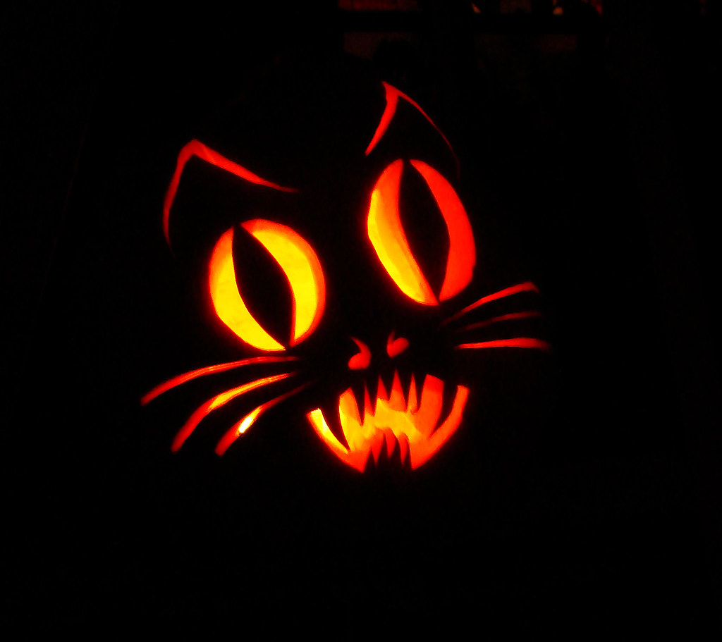 Cat Pumpkin Carvings Patterns: Best cool scary halloween pumpkin ...