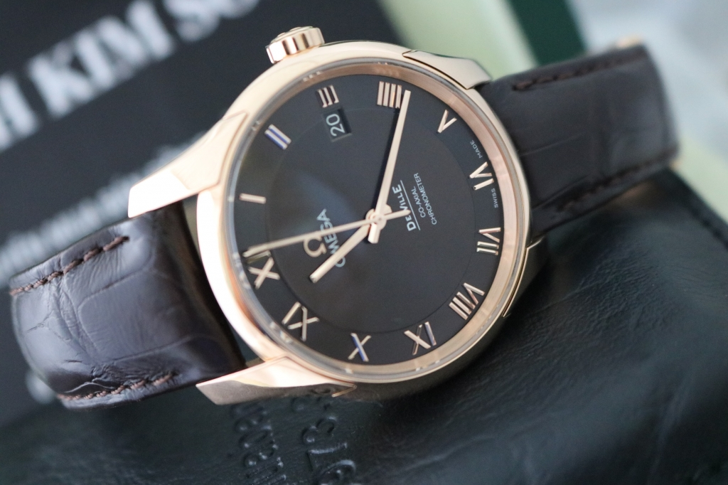 bán đồng hồ omega deville – máy coaxial 8501 – vàng hồng 18k – size 41mm