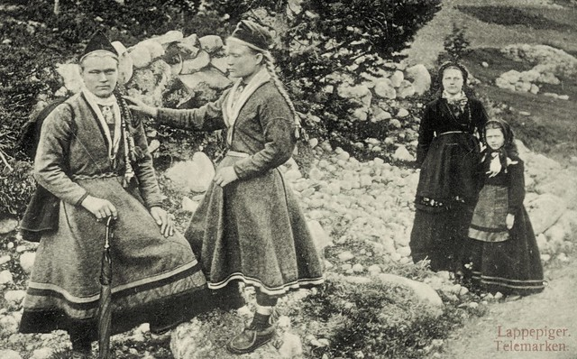 Sami girls from Telemark Southern Norway late 1800
