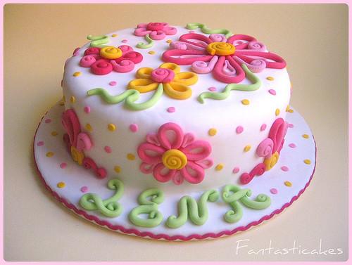 Visions Floral Art And Cake Design : Torta Fiori Alana / Alana s Flowers Cake Flickr - Photo ...