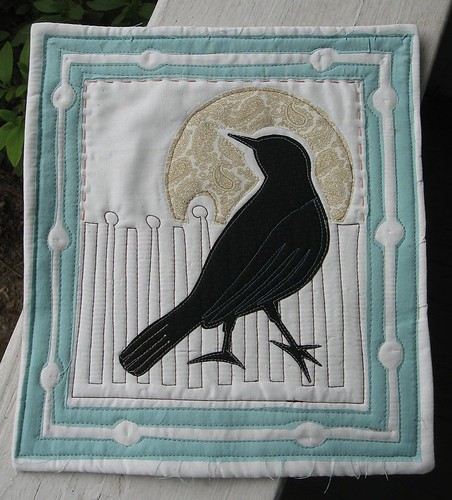 black bird mini with frame
