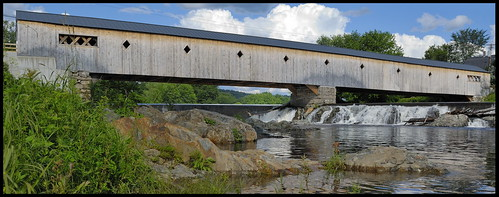bridge usa water landscape geotagged wooden nikon bath newhampshire nh covered coveredbridge 2009 haverhill d80