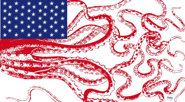 US Flag / Haeckel series (repost against SOPA)
