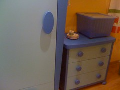 drawer, furniture, room, chest of drawers, blue,