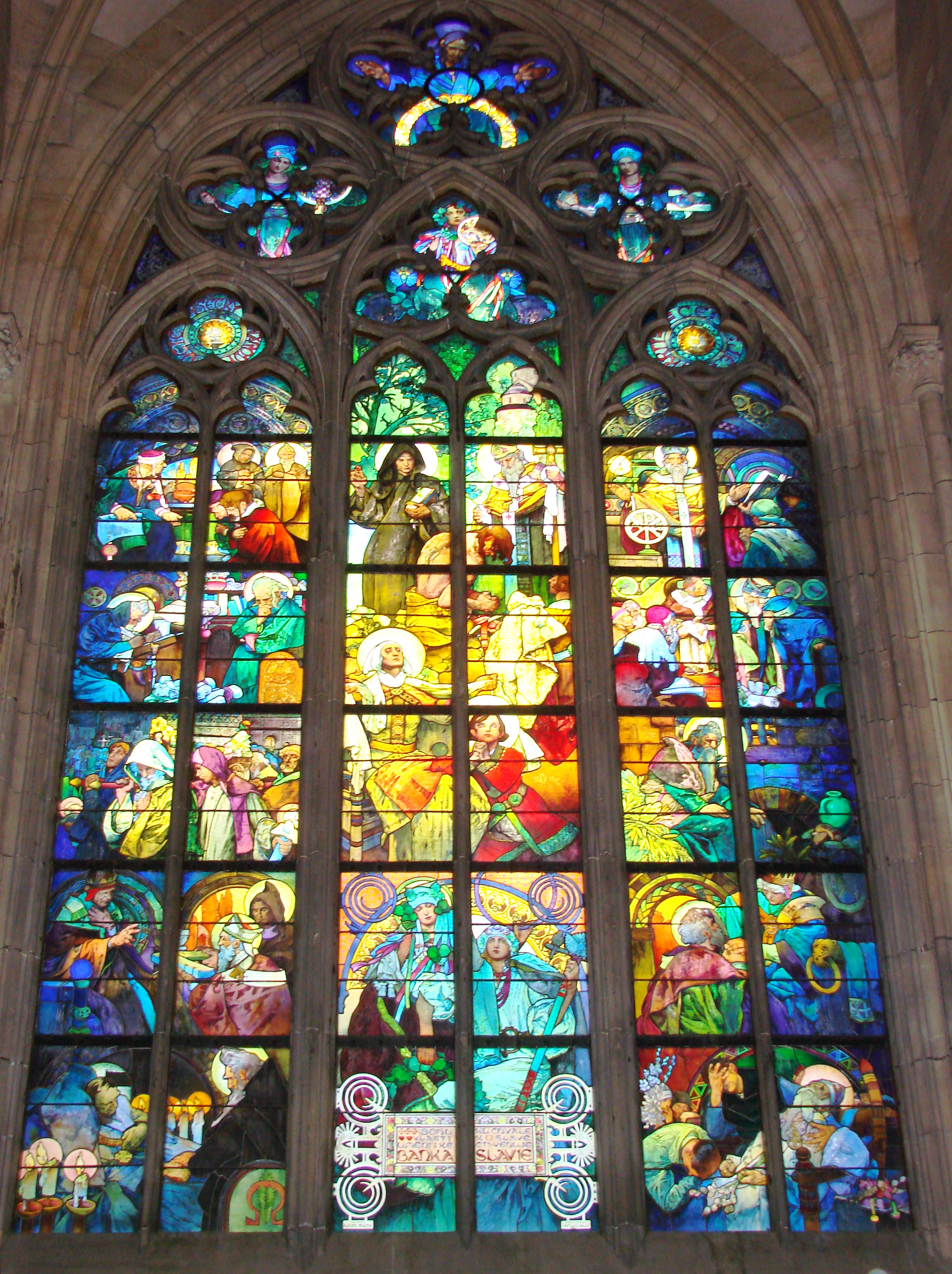 Alfonse Mucha S Stained Glass In St Vitus S Cathedral