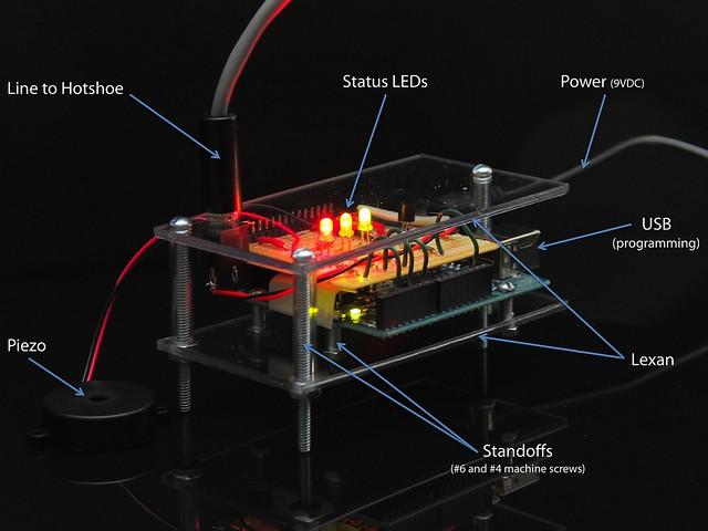 Arduino flash trigger flickr photo sharing