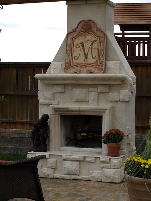 custom outdoor fireplace flickr photo sharing