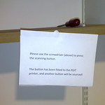 Broken photocopier sign