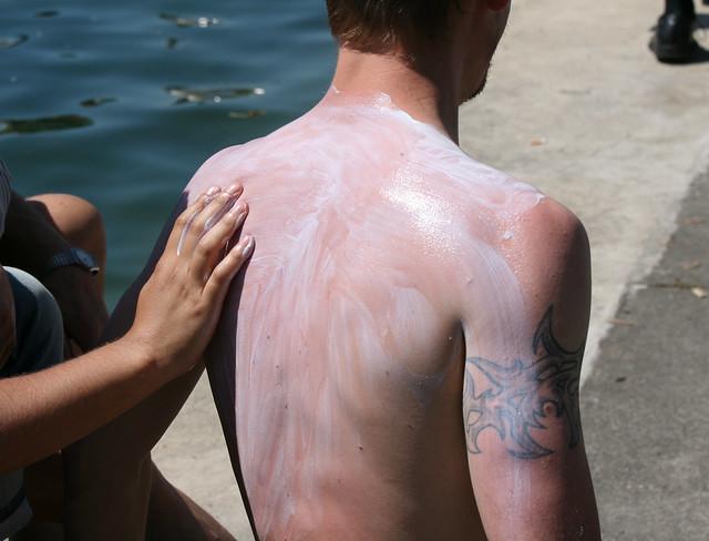 Armure de crème solaire