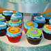 baby jungle animals cupcakes