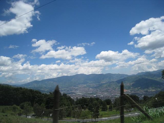 Leaving the Medellin valley behind