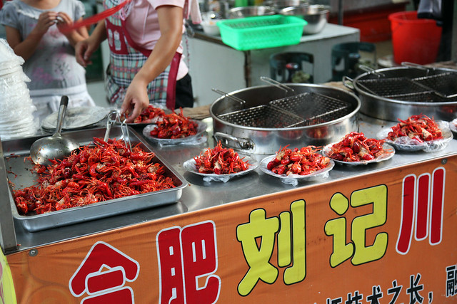 Chinese Crayfish Street Food Vendor