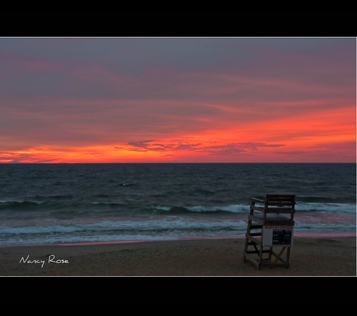 morning beach sunrise early chair waves view no tripod northcarolina lifeguard sleepy nagshead 12 sec outerbanks obx 75f àdmiring killdevilhillsoceanrescue 54912am