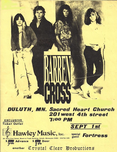 09/01/89 Barren Cross/Fortress @ Duluth, MN (Flyer)