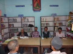 Interaction in progress at Ranapal School, Dangihat
