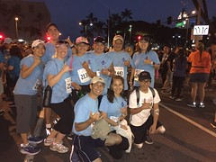 Hawaiian Electric supports Kaiser Permanente's Great Aloha Run - February 20, 2017: Group photo at the start line