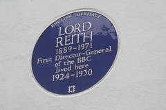 Photo of John Reith blue plaque
