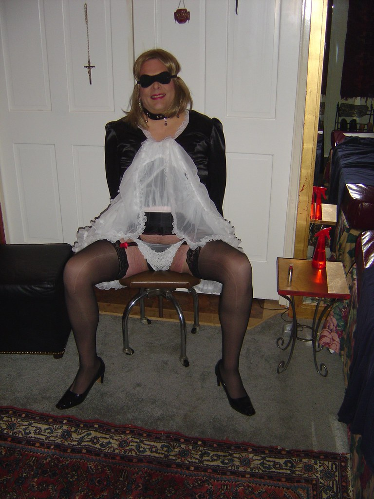 Submissive husband collared and teased dressed in zentai - 2 part 9